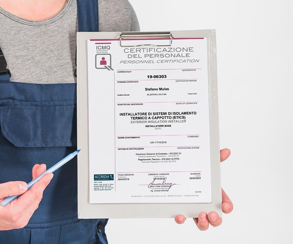 Certificazione ICMQ Steba